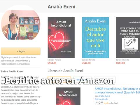 perfil de autor en amazon analia exeni